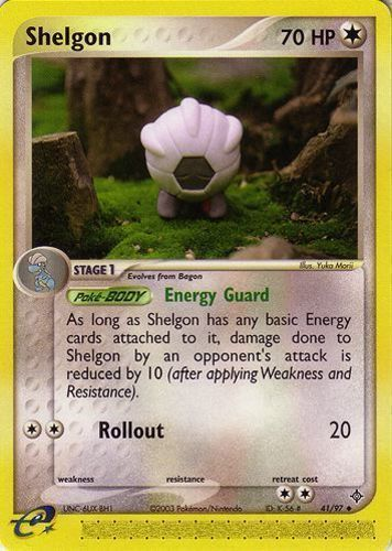 Shelgon card for EX Dragon