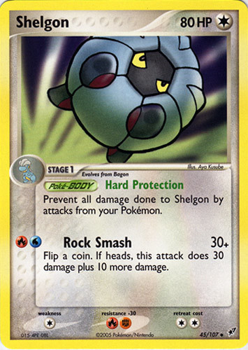 Shelgon card for EX Deoxys