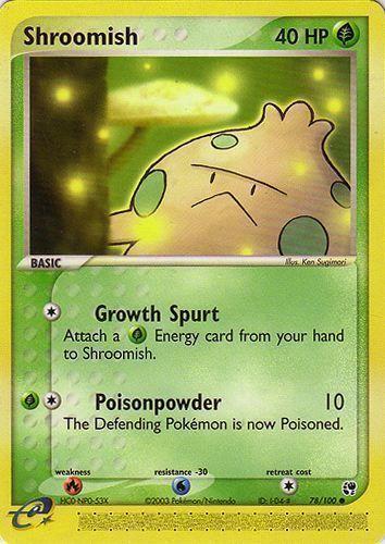 Shroomish card for EX Sandstorm
