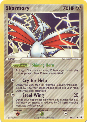 Skarmory card for EX Delta Species