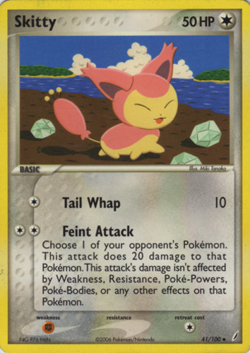 Skitty card for EX Crystal Guardians