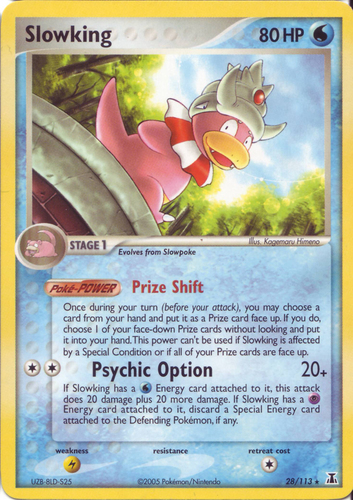Slowking card for EX Delta Species