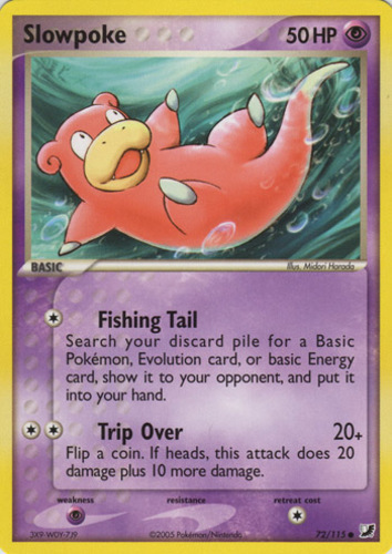 Slowpoke card for EX Unseen Forces