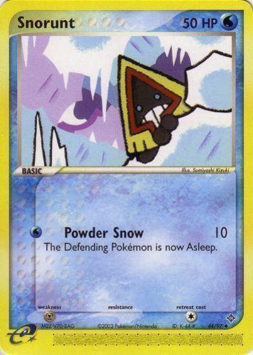 Snorunt card for EX Dragon
