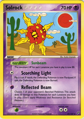 Solrock card for EX Deoxys