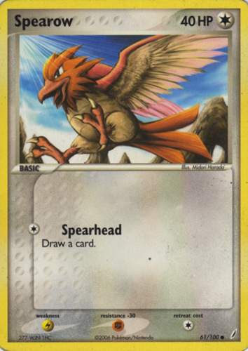 Spearow card for EX Crystal Guardians