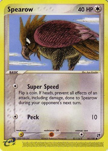 Spearow card for EX Sandstorm
