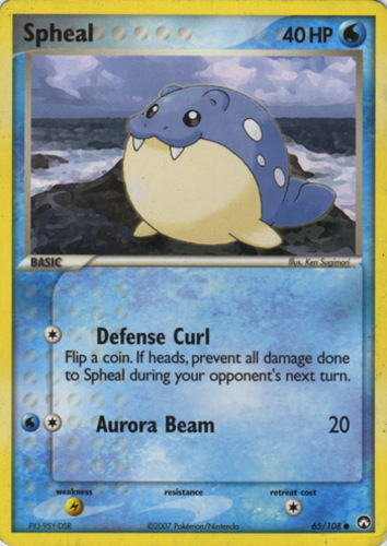 Spheal card for EX Power Keepers