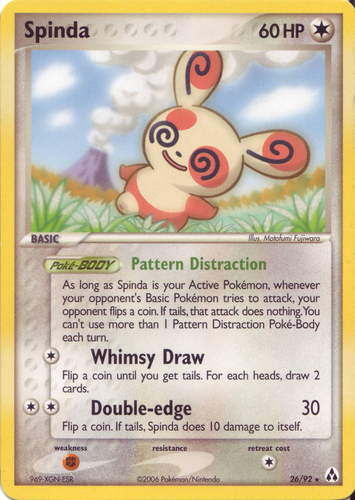 Spinda card for EX Legend Maker