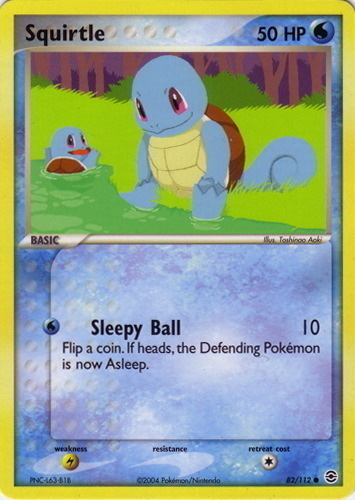 Squirtle card for EX FireRed & LeafGreen