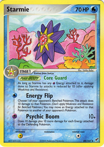 Starmie card for EX Deoxys
