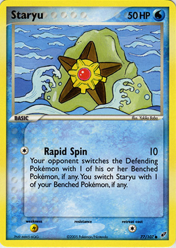 Staryu card for EX Deoxys