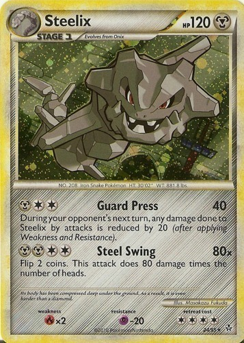 Steelix card for Unleashed