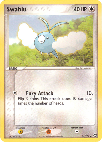 Swablu card for EX Power Keepers