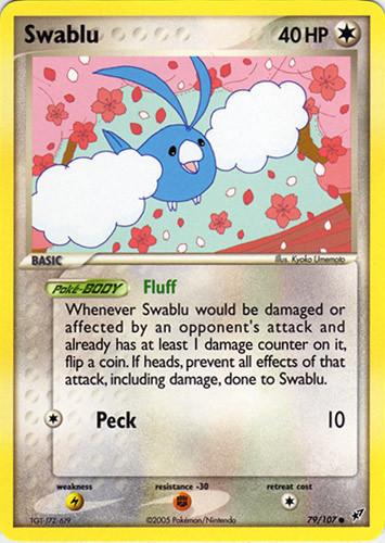 Swablu card for EX Deoxys