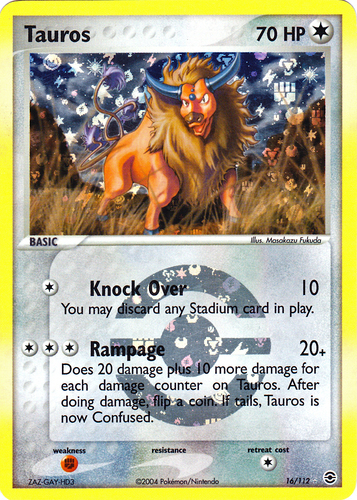 Tauros card for EX FireRed & LeafGreen
