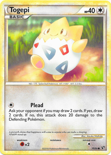 Togepi card for Undaunted
