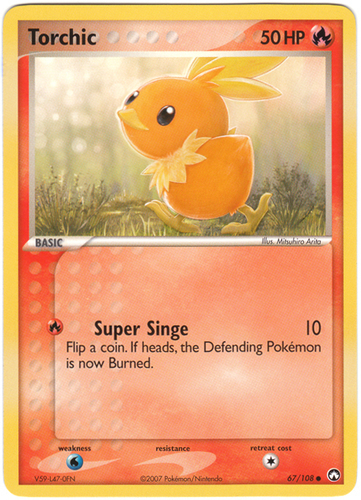 Torchic card for EX Power Keepers