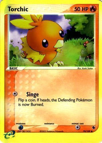 Torchic card for EX Ruby & Sapphire