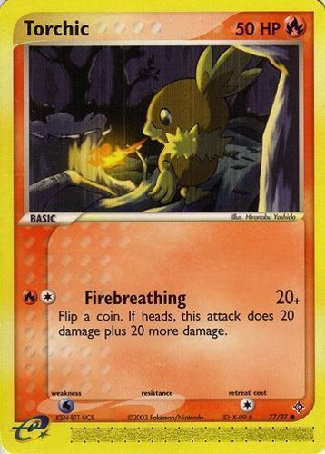 Torchic card for EX Dragon