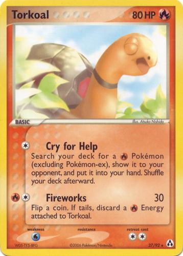 Torkoal card for EX Legend Maker