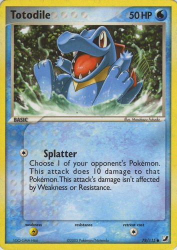 Totodile card for EX Unseen Forces