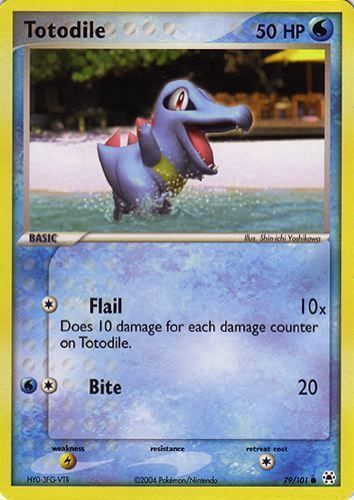 Totodile card for EX Hidden Legends
