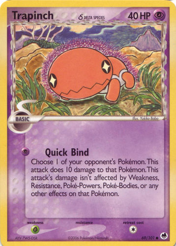 Trapinch card for EX Dragon Frontiers