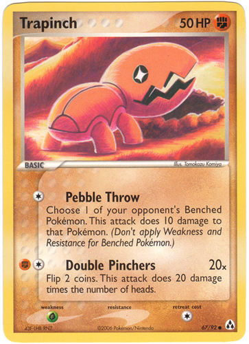 Trapinch card for EX Legend Maker