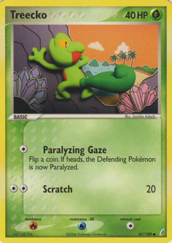 Treecko card for EX Crystal Guardians