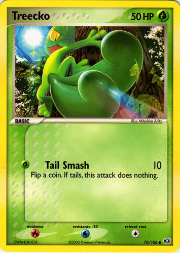 Treecko card for EX Emerald