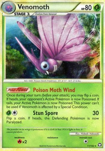 Venomoth card for Triumphant