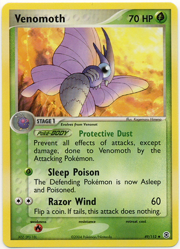 Venomoth card for EX FireRed & LeafGreen