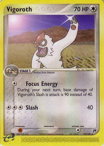 Vigoroth card for EX Sandstorm