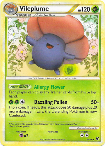 Vileplume card for Undaunted