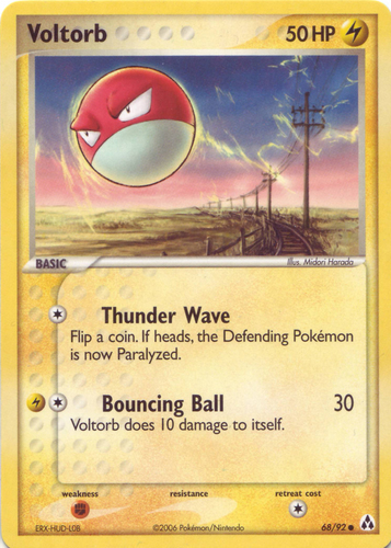 Voltorb card for EX Legend Maker