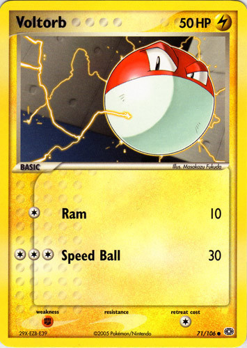 Voltorb card for EX Emerald