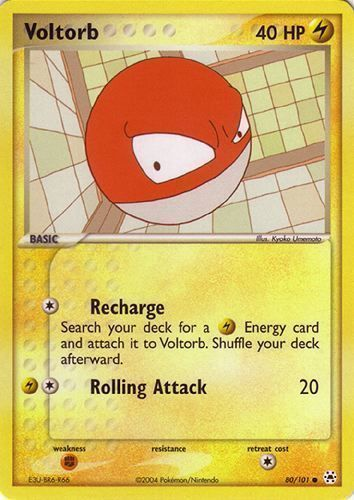 Voltorb card for EX Hidden Legends