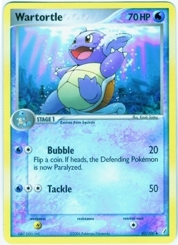 Wartortle card for EX Crystal Guardians