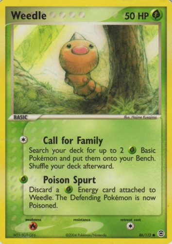Weedle card for EX FireRed & LeafGreen