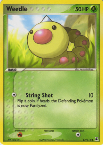 Weedle card for EX Delta Species