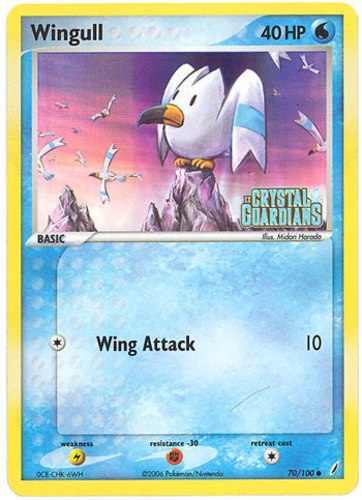 Wingull card for EX Crystal Guardians