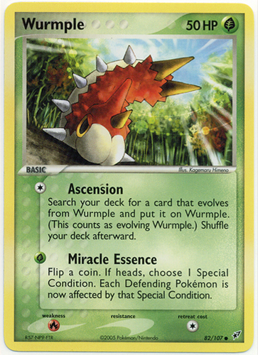 Wurmple card for EX Deoxys