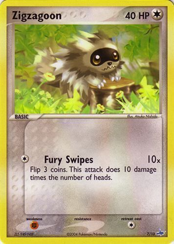 Zigzagoon card for EX Ruby & Sapphire