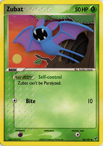 Zubat card for EX Deoxys