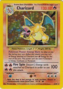 Charizard base set first edition pokemon card