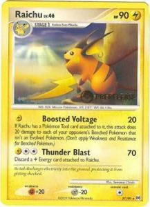 Prerelease Raichu Pokemon Card Rare